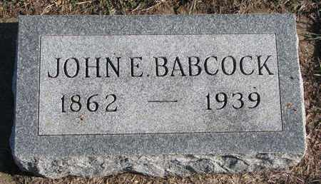 BABCOCK, JOHN E. - Bon Homme County, South Dakota | JOHN E. BABCOCK - South Dakota Gravestone Photos