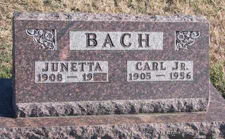 BACH, JUNETTA - Bon Homme County, South Dakota | JUNETTA BACH - South Dakota Gravestone Photos