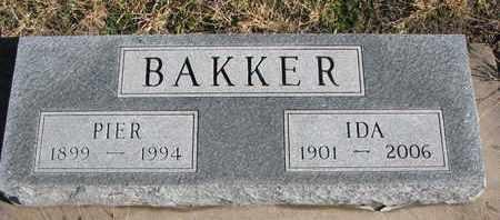 BAKKER, PIER - Bon Homme County, South Dakota | PIER BAKKER - South Dakota Gravestone Photos
