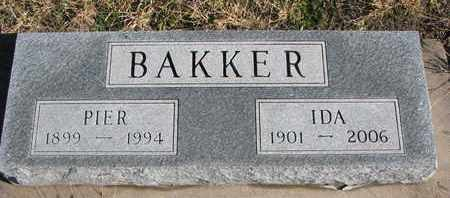 BAKKER, IDA - Bon Homme County, South Dakota   IDA BAKKER - South Dakota Gravestone Photos