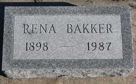 BAKKER, RENA - Bon Homme County, South Dakota | RENA BAKKER - South Dakota Gravestone Photos