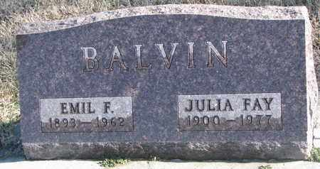 BALVIN, JULIA FAY - Bon Homme County, South Dakota | JULIA FAY BALVIN - South Dakota Gravestone Photos