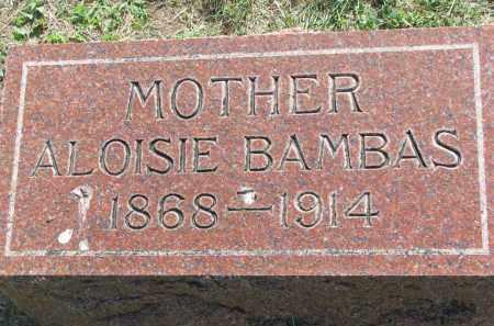 BAMBAS, ALOISIE - Bon Homme County, South Dakota | ALOISIE BAMBAS - South Dakota Gravestone Photos