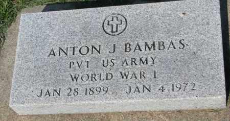 BAMBAS, ANTON J. - Bon Homme County, South Dakota | ANTON J. BAMBAS - South Dakota Gravestone Photos