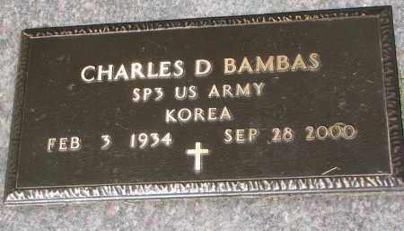 BAMBAS, CHARLES D. (MILITARY) - Bon Homme County, South Dakota   CHARLES D. (MILITARY) BAMBAS - South Dakota Gravestone Photos