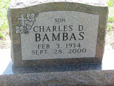 BAMBAS, CHARLES D. - Bon Homme County, South Dakota | CHARLES D. BAMBAS - South Dakota Gravestone Photos