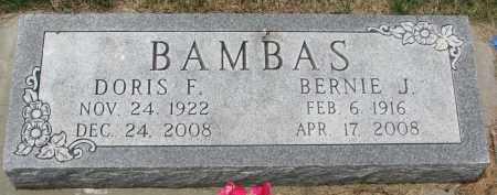 BAMBAS, BERNIE J. - Bon Homme County, South Dakota | BERNIE J. BAMBAS - South Dakota Gravestone Photos