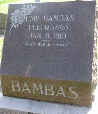 BAMBAS, EMIL - Bon Homme County, South Dakota | EMIL BAMBAS - South Dakota Gravestone Photos