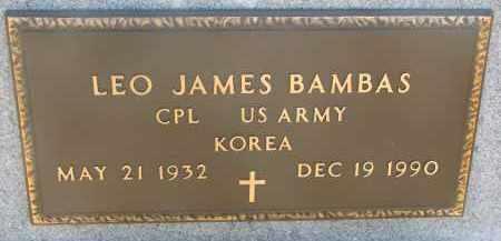 BAMBAS, LEO JAMES (MILTARY) - Bon Homme County, South Dakota | LEO JAMES (MILTARY) BAMBAS - South Dakota Gravestone Photos