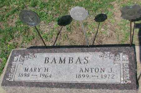 BAMBAS, ANTON J. - Bon Homme County, South Dakota | ANTON J. BAMBAS - South Dakota Gravestone Photos