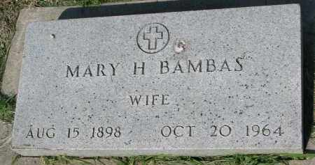BAMBAS, MARY H. - Bon Homme County, South Dakota | MARY H. BAMBAS - South Dakota Gravestone Photos
