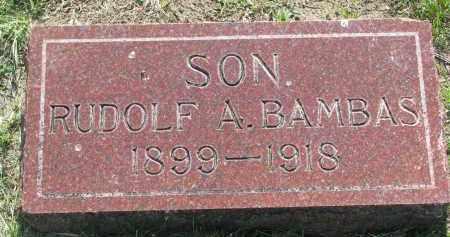 BAMBAS, RUDOLF A. - Bon Homme County, South Dakota | RUDOLF A. BAMBAS - South Dakota Gravestone Photos