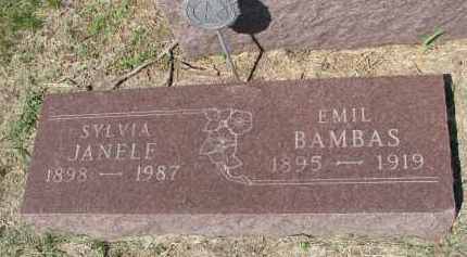 BAMBAS, SYLVIA - Bon Homme County, South Dakota | SYLVIA BAMBAS - South Dakota Gravestone Photos