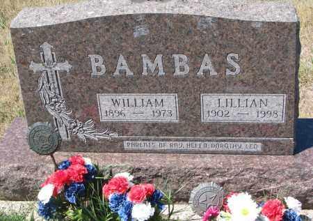 BAMBAS, WILLIAM - Bon Homme County, South Dakota | WILLIAM BAMBAS - South Dakota Gravestone Photos