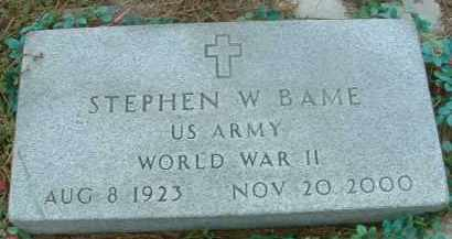 BAME, STEPHEN W. - Bon Homme County, South Dakota | STEPHEN W. BAME - South Dakota Gravestone Photos