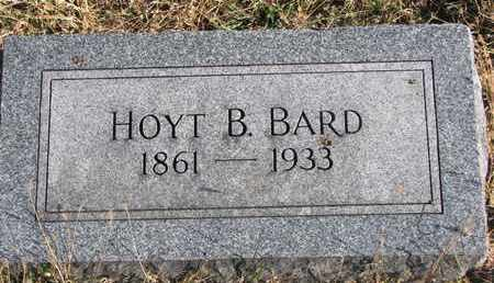 BARD, HOYT B. - Bon Homme County, South Dakota   HOYT B. BARD - South Dakota Gravestone Photos