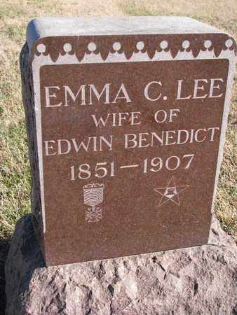 LEE BENEDICT, EMMA C. - Bon Homme County, South Dakota | EMMA C. LEE BENEDICT - South Dakota Gravestone Photos