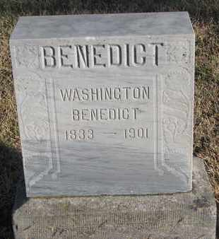 BENEDICT, WASHINGTON - Bon Homme County, South Dakota | WASHINGTON BENEDICT - South Dakota Gravestone Photos