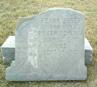 BENES, FRANK - Bon Homme County, South Dakota | FRANK BENES - South Dakota Gravestone Photos
