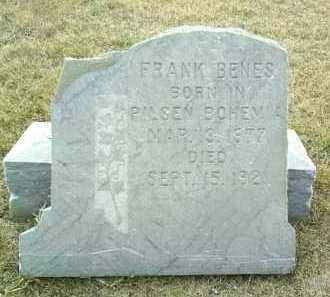 BENES, FRANK - Bon Homme County, South Dakota | FRANK BENES - South Dakota Gravestone Photos