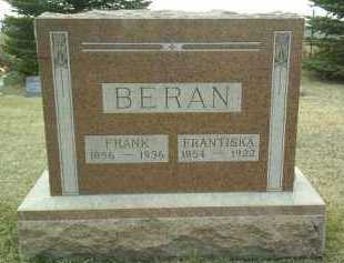 BERAN, FRANTISKA - Bon Homme County, South Dakota | FRANTISKA BERAN - South Dakota Gravestone Photos