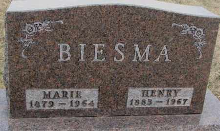 BIESMA, HENRY - Bon Homme County, South Dakota | HENRY BIESMA - South Dakota Gravestone Photos