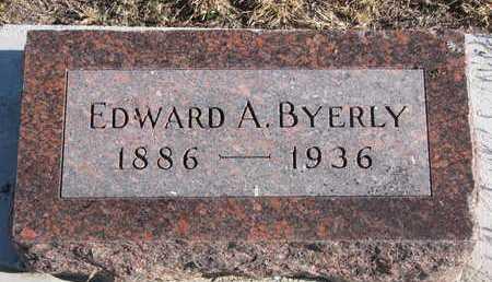 BYERLY, EDWARD A. - Bon Homme County, South Dakota | EDWARD A. BYERLY - South Dakota Gravestone Photos