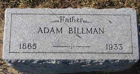 BILLMAN, ADAM - Bon Homme County, South Dakota | ADAM BILLMAN - South Dakota Gravestone Photos
