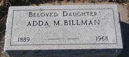 BILLMAN, ADDA M. - Bon Homme County, South Dakota | ADDA M. BILLMAN - South Dakota Gravestone Photos