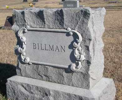 BILLMAN, FAMILY STONE - Bon Homme County, South Dakota   FAMILY STONE BILLMAN - South Dakota Gravestone Photos