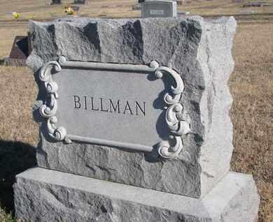 BILLMAN, FAMILY STONE - Bon Homme County, South Dakota | FAMILY STONE BILLMAN - South Dakota Gravestone Photos