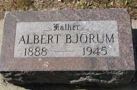BJORUM, ALBERT - Bon Homme County, South Dakota | ALBERT BJORUM - South Dakota Gravestone Photos