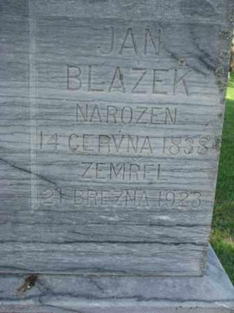BLAZEK, JAN (CLOSEUP) - Bon Homme County, South Dakota | JAN (CLOSEUP) BLAZEK - South Dakota Gravestone Photos