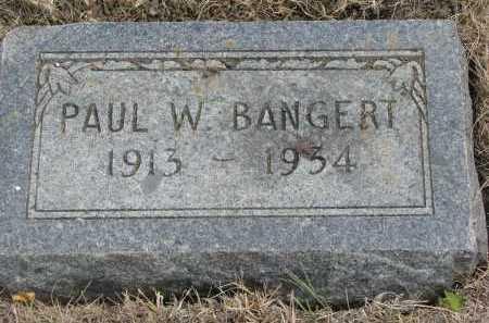 BANGERT, PAUL - Bon Homme County, South Dakota | PAUL BANGERT - South Dakota Gravestone Photos
