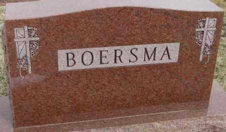 BOERSMA, PLOT - Bon Homme County, South Dakota | PLOT BOERSMA - South Dakota Gravestone Photos