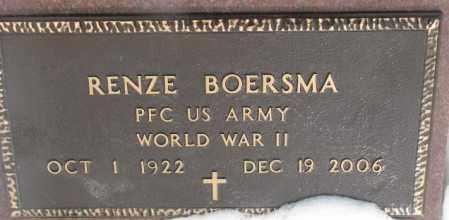 BOERSMA, RENZE (WW II) - Bon Homme County, South Dakota   RENZE (WW II) BOERSMA - South Dakota Gravestone Photos