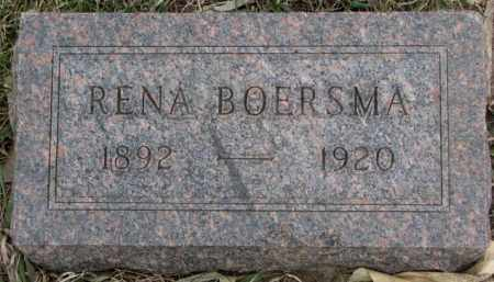 BOERSMA, RENA - Bon Homme County, South Dakota | RENA BOERSMA - South Dakota Gravestone Photos
