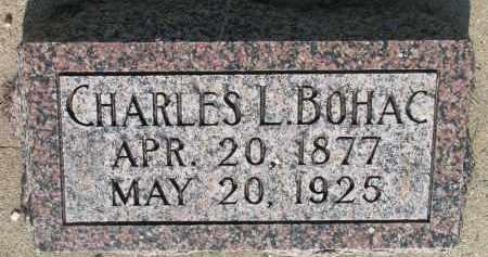 BOHAC, CHARLES L. - Bon Homme County, South Dakota   CHARLES L. BOHAC - South Dakota Gravestone Photos