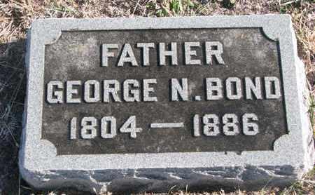 BOND, GEORGE N. - Bon Homme County, South Dakota | GEORGE N. BOND - South Dakota Gravestone Photos