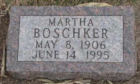 BOSCHKER, MARTHA - Bon Homme County, South Dakota   MARTHA BOSCHKER - South Dakota Gravestone Photos