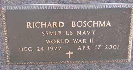 BOSCHMA, RICHARD (WW II) - Bon Homme County, South Dakota   RICHARD (WW II) BOSCHMA - South Dakota Gravestone Photos