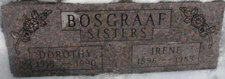 BOSGRAAF, IRENE - Bon Homme County, South Dakota | IRENE BOSGRAAF - South Dakota Gravestone Photos