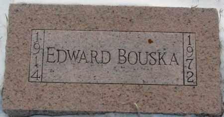 BOUSKA, EDWARD - Bon Homme County, South Dakota | EDWARD BOUSKA - South Dakota Gravestone Photos