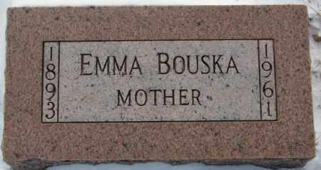 BOUSKA, EMMA - Bon Homme County, South Dakota   EMMA BOUSKA - South Dakota Gravestone Photos