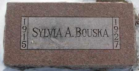BOUSKA, SYLVIA A. - Bon Homme County, South Dakota | SYLVIA A. BOUSKA - South Dakota Gravestone Photos