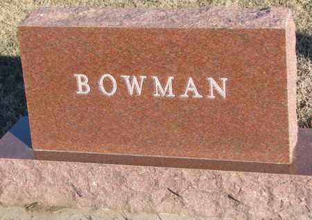 BOWMAN, FAMILY STONE - Bon Homme County, South Dakota | FAMILY STONE BOWMAN - South Dakota Gravestone Photos