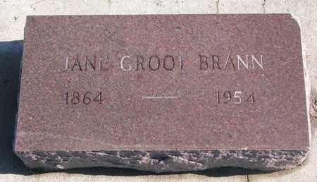 BRANN, JANE - Bon Homme County, South Dakota | JANE BRANN - South Dakota Gravestone Photos