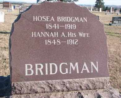 BRIDGMAN, HANNAH A. - Bon Homme County, South Dakota | HANNAH A. BRIDGMAN - South Dakota Gravestone Photos