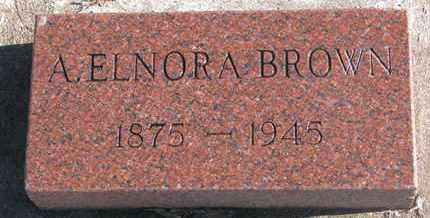BROWN, A. ELNORA - Bon Homme County, South Dakota   A. ELNORA BROWN - South Dakota Gravestone Photos