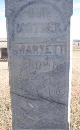 BROWN, MARYETT (CLOSEUP) - Bon Homme County, South Dakota | MARYETT (CLOSEUP) BROWN - South Dakota Gravestone Photos